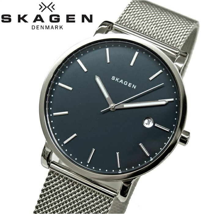 スカーゲン SKAGEN SKW6327時計 腕時計 メンズダークネイビー シルバー メッシュ【ID】