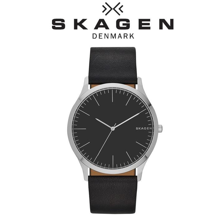 スカーゲン SKAGEN時計 腕時計 メンズレザー ブラック SKW6329【ID】【G2】