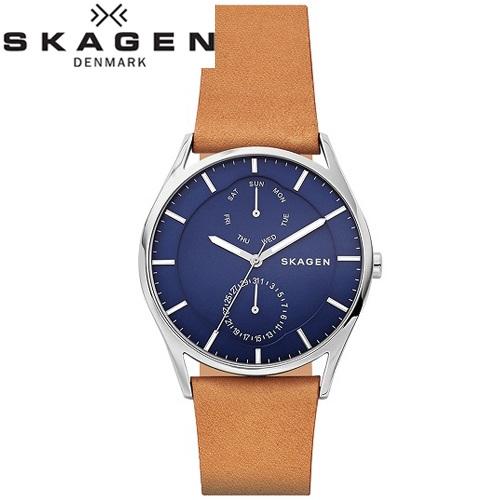 スカーゲン SKAGEN時計 腕時計 メンズレザー ネイビー ブラウン SKW6369【ID】