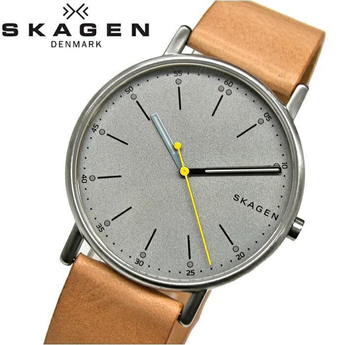スカーゲン SKAGEN SKW6373時計 腕時計 メンズグレー ベージュ レザー【ID】