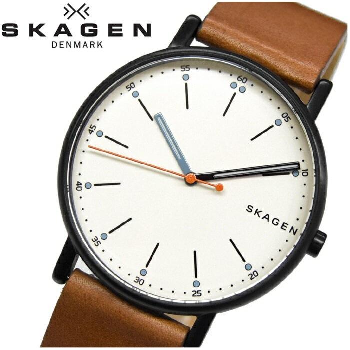 スカーゲン SKAGEN SKW6374時計 腕時計 メンズブラック レザー【ID】【G2】
