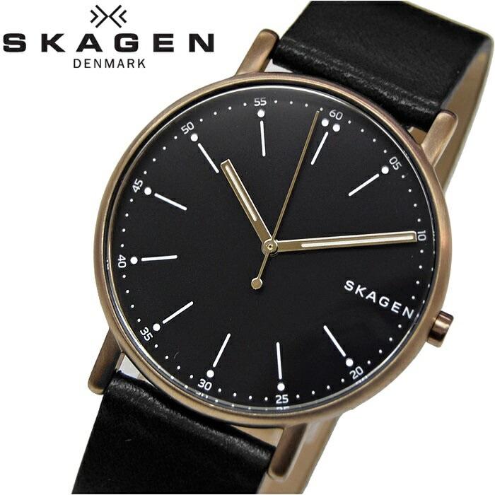 スカーゲン SKAGEN SKW6401時計 腕時計 メンズブラック レザー