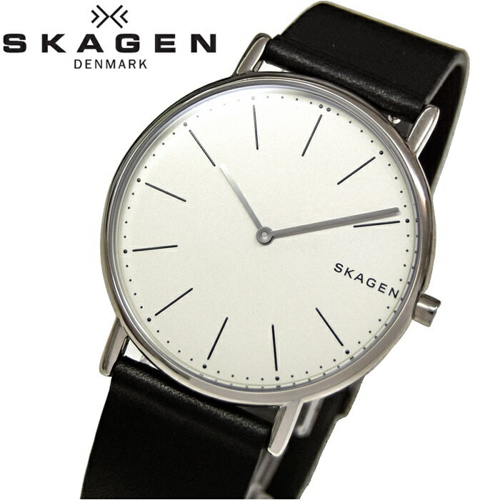 スカーゲン SKAGEN SKW6419時計 腕時計 メンズブラック ホワイト レザー【ID】