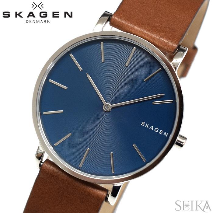 スカーゲン SKAGEN SKW6446 ハーゲン時計 腕時計 メンズ ブルー ブラウン レザー【ID】