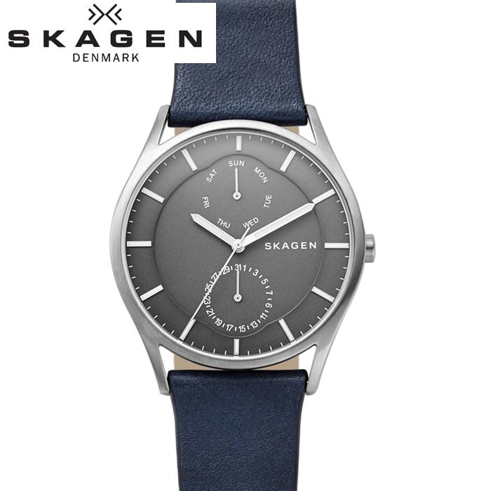 スカーゲン SKAGEN SKW6448 ホルスト時計 腕時計 メンズ ネイビー レザー【ID】