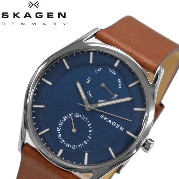 スカーゲン SKAGEN SKW6449 ホルスト時計 腕時計 メンズ ネイビー ブラウン レザー【ID】