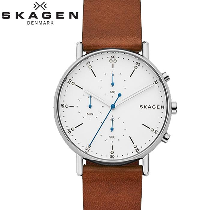 スカーゲン SKAGEN SKW6462 シグネチャー時計 腕時計 メンズ ブラウン レザー