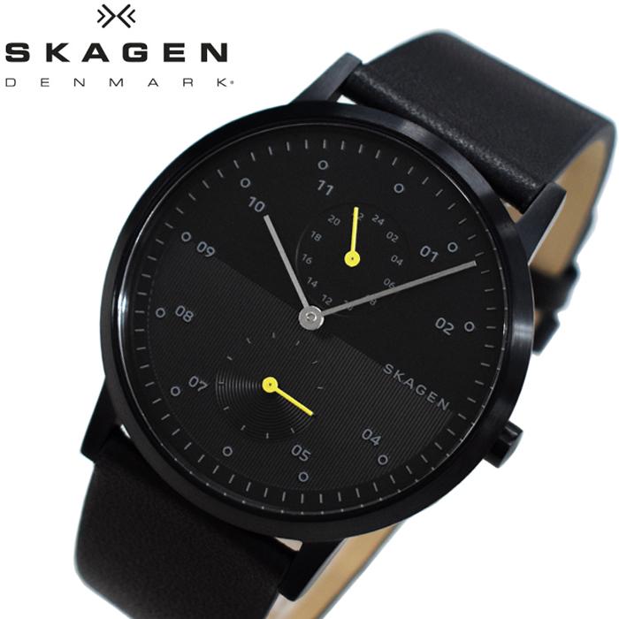 【レビューを書いて5年保証】【サマークリアランス】スカーゲン SKAGEN SKW6499 クリストファー 時計 腕時計 メンズ ブラック レザー【0703】 ギフト