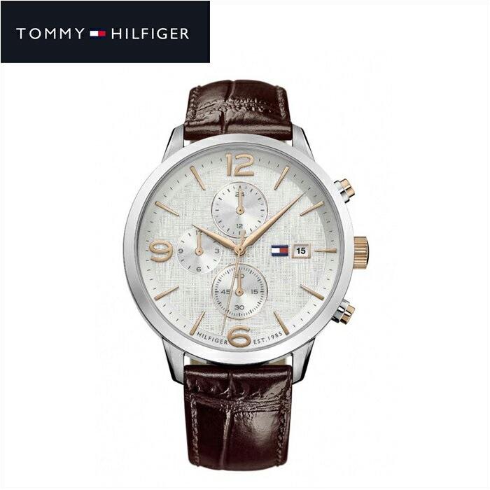 【クリアランス】トミーヒルフィガー TOMMY HILFIGER1710360(148) メンズ 時計 腕時計 ネイビー ブラウン ラバー