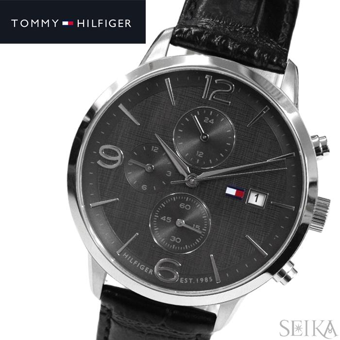 トミーヒルフィガー TOMMY HILFIGER1710361(149) メンズ 時計 腕時計 グレー ブラック ラバー