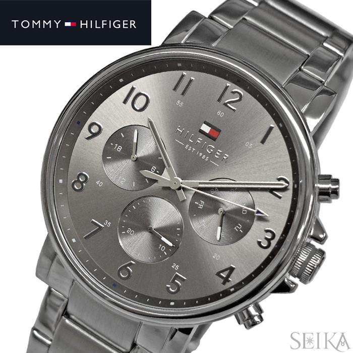 【レビューを書いて5年保証】トミーヒルフィガー TOMMYHILFIGER 1710382(312) 時計 腕時計 メンズ シルバー ギフト