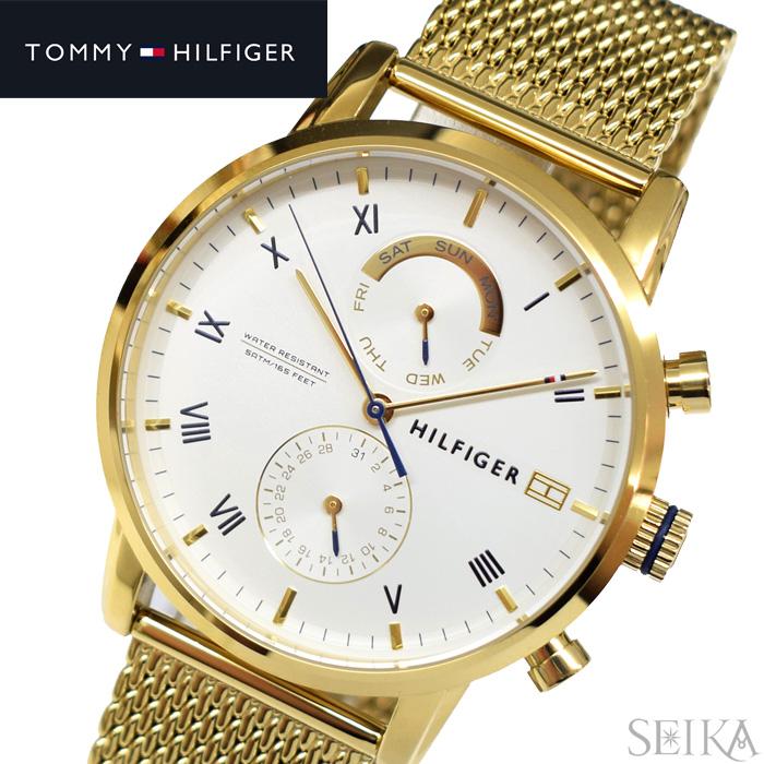 【レビューを書いて5年保証】トミーヒルフィガー TOMMYHILFIGER 1710403(313) 時計 腕時計 メンズ ゴールド メッシュ ギフト