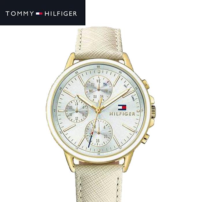 トミーヒルフィガー TOMMY HILFIGER 1781790 (216)時計 腕時計 レディース アイボリー レザー