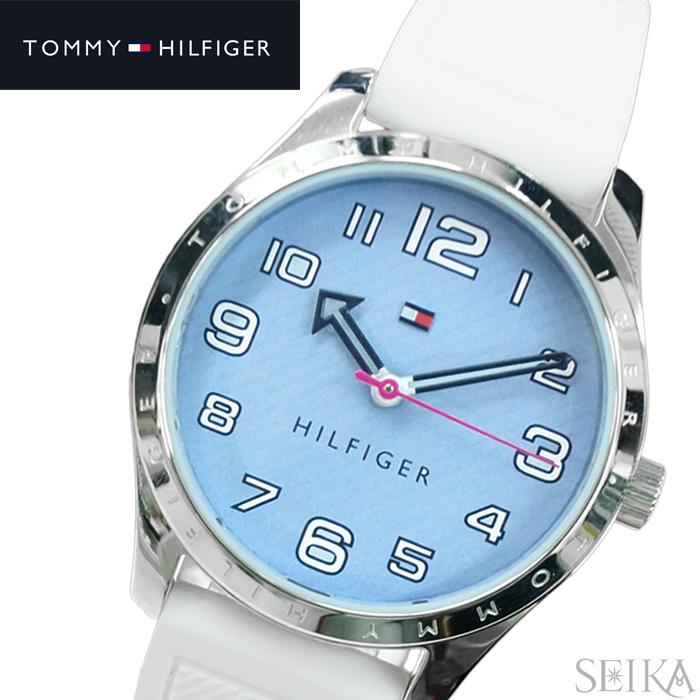 トミーヒルフィガー TOMMY HILFIGER 1781869 (231)時計 腕時計 レディース ライトブルー ホワイト ラバー 青い腕時計 クリスマス プレゼント【CPAD】