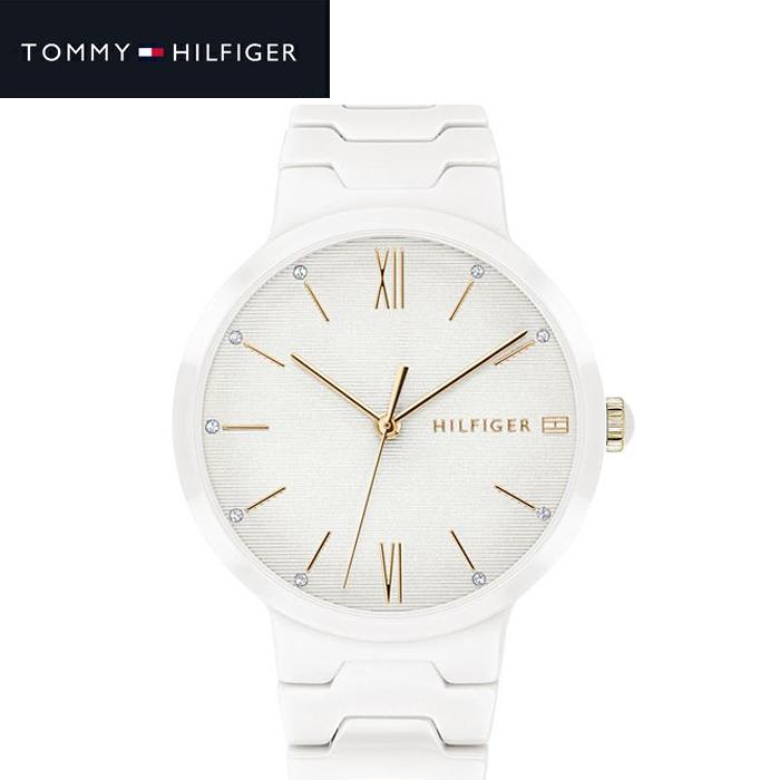 トミーヒルフィガー TOMMY HILFIGER 1781956 (214)時計 腕時計 レディース ホワイト セラミック