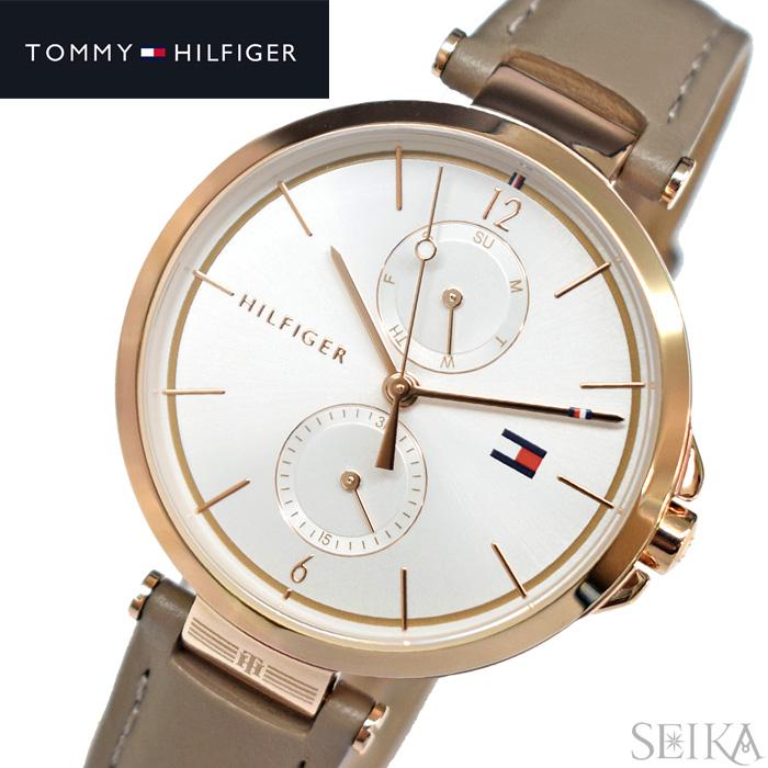 【レビューを書いて5年保証】トミーヒルフィガー TOMMYHILFIGER 1782125(316) 時計 腕時計 レディース スモーキーベージュ レザー