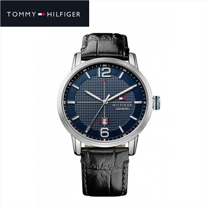 トミーヒルフィガー TOMMY HILFIGER 1791216 (127)時計 腕時計 メンズ ネイビー ブラック レザー