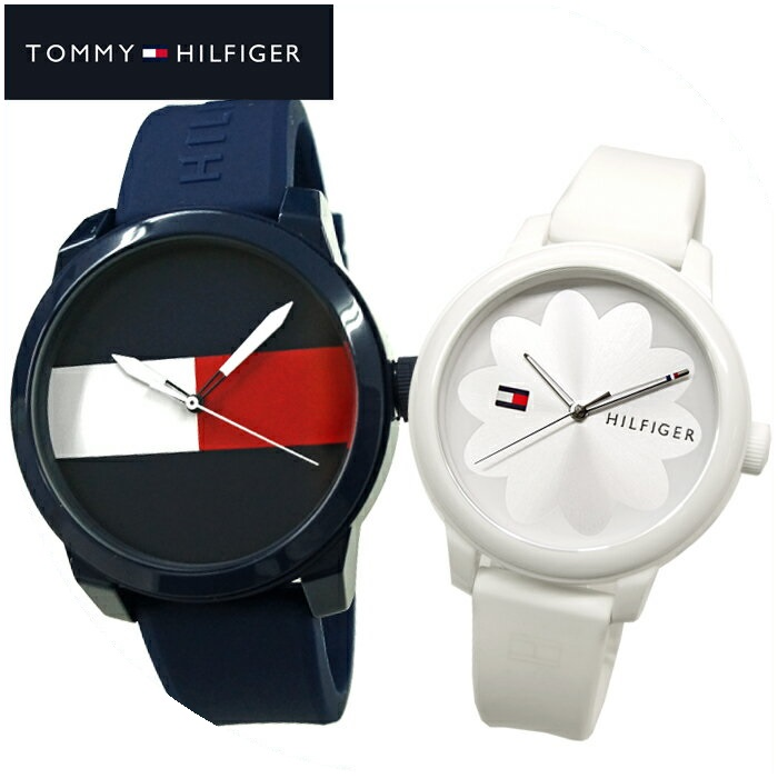 【ペアウォッチ】トミーヒルフィガー/TOMMY HILFIGER 腕時計 時計 メンズ 1791322(117) レディース 1781774(132)ネイビー ホワイト ラバー【SEIKA厳選ペア】