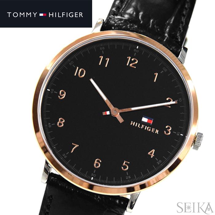 トミーヒルフィガー TOMMY HILFIGER 1791339 (116)時計 腕時計 メンズ ブラック レザー