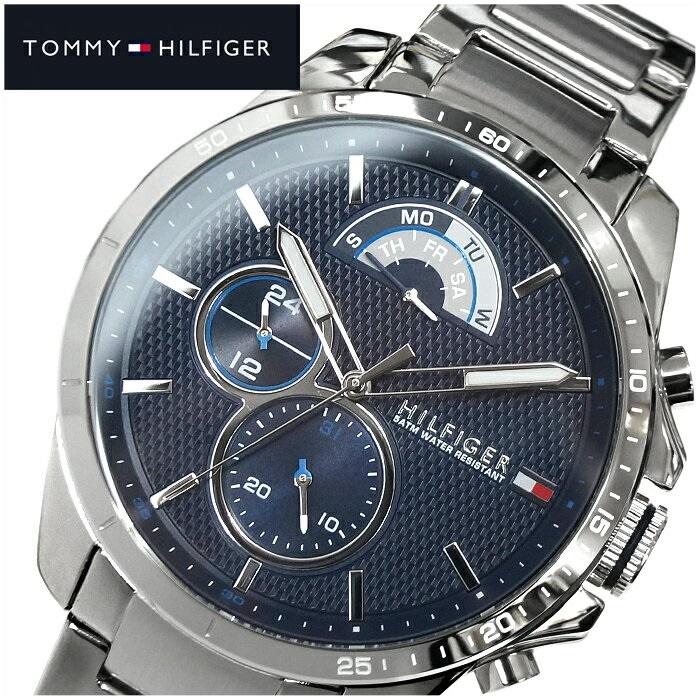 トミーヒルフィガー TOMMY HILFIGERDECKER 1791348(139) メンズ 時計 腕時計 ネイビー シルバー