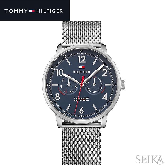 トミーヒルフィガー TOMMY HILFIGER 1791354 (219)時計 腕時計 メンズ ネイビー シルバー メッシュベルト