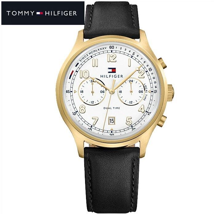 トミーヒルフィガー TOMMY HILFIGER 1791386(172)時計 腕時計 メンズ ブラック レザー