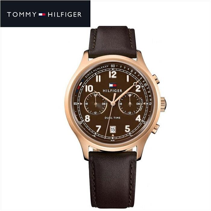 トミーヒルフィガー TOMMY HILFIGER 1791387 (133)時計 腕時計 メンズブラウン レザー