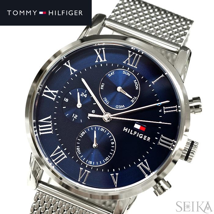 トミーヒルフィガー TOMMY HILFIGER1791398(156) メンズ 時計 腕時計 ネイビー シルバー
