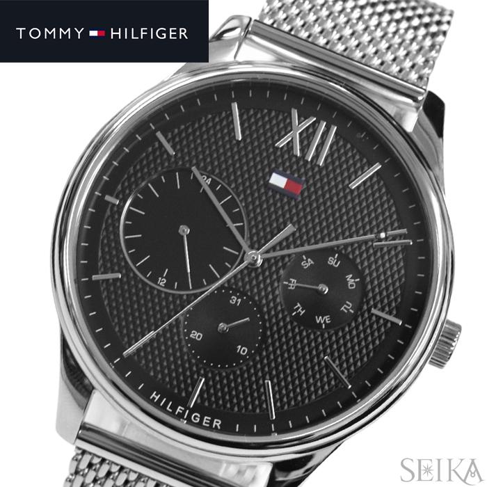 トミーヒルフィガー TOMMY HILFIGER 1791415 (188)時計 腕時計 メンズ ブラック シルバー メッシュ