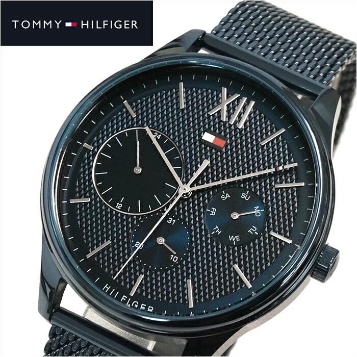 トミーヒルフィガー TOMMY HILFIGERDAMON 1791421(141) メンズ 時計 腕時計 ネイビー メッシュ