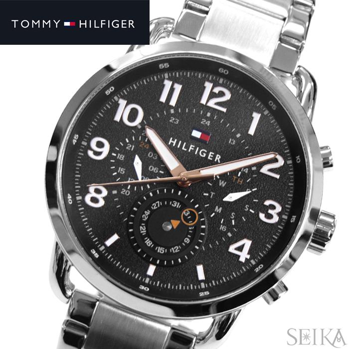 トミーヒルフィガー TOMMY HILFIGER 1791422 (209)時計 腕時計 メンズ ブラック シルバー