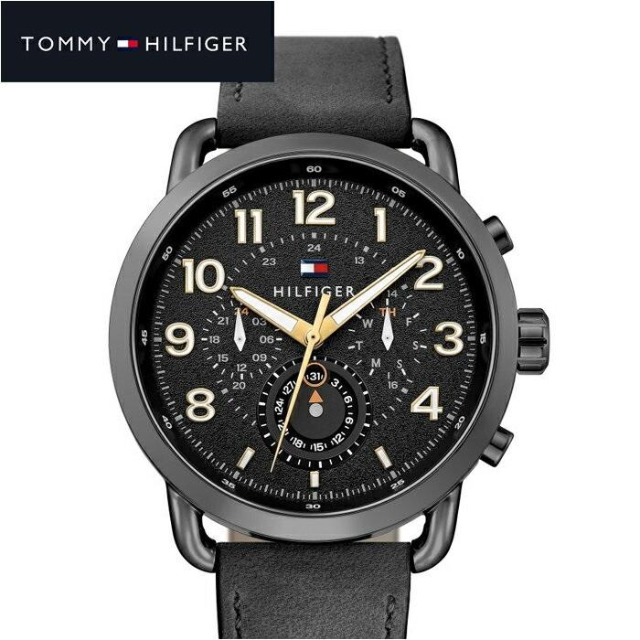 トミーヒルフィガー TOMMY HILFIGER 1791426 (190)時計 腕時計 メンズ ブラック レザー