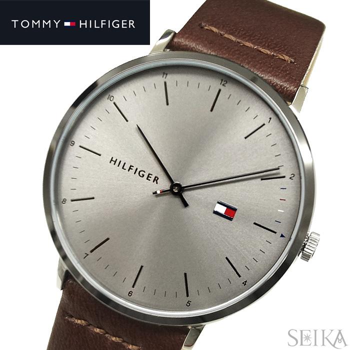 トミーヒルフィガー TOMMY HILFIGER1791463(179) メンズ 時計 腕時計 JAMES グレー ブラウン レザー 薄型