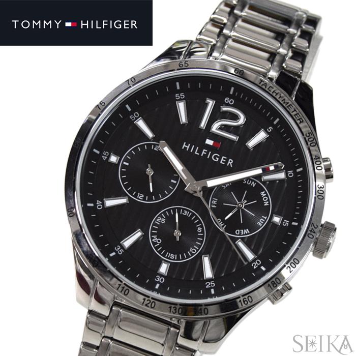 トミーヒルフィガー TOMMY HILFIGER 1791469 (212)時計 腕時計 メンズ ブラック シルバー