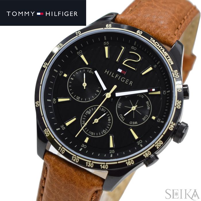 トミーヒルフィガー TOMMY HILFIGER 1791470 (210)時計 腕時計 メンズ ブラック ブラウン レザー