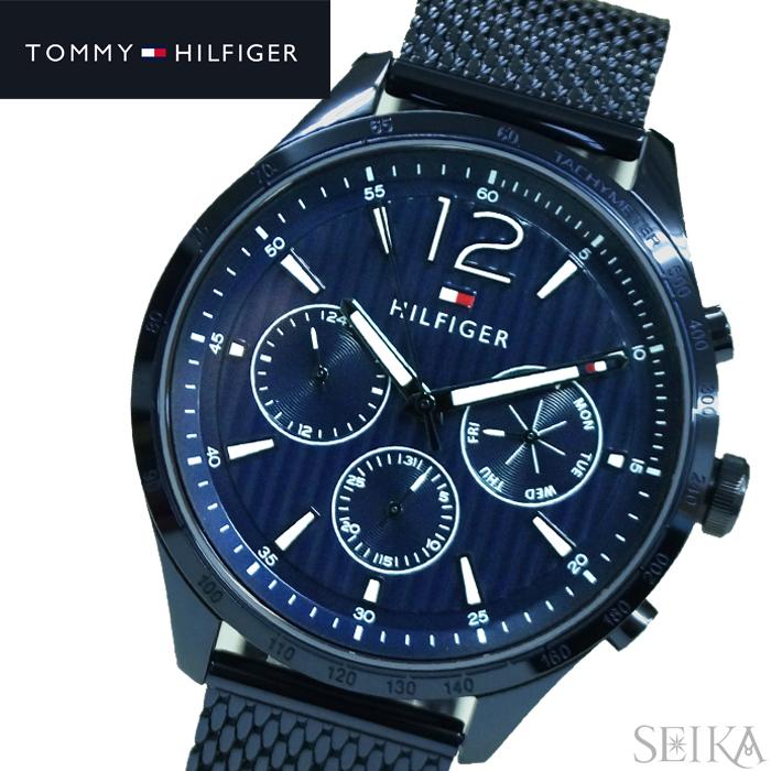 トミーヒルフィガー TOMMY HILFIGER 1791471 (192)時計 腕時計 メンズ ブルー メッシュ