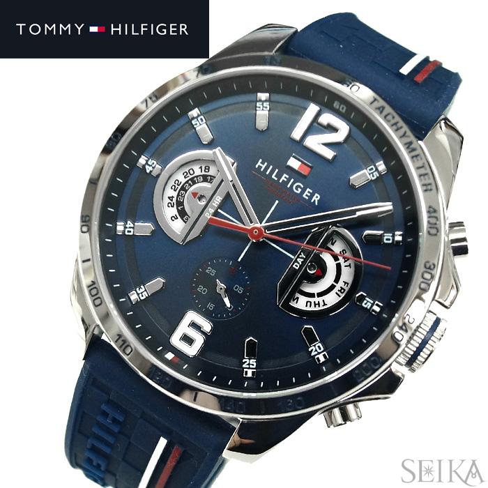 トミーヒルフィガー TOMMY HILFIGER 1791476 (200)時計 腕時計 メンズネイビー ラバー