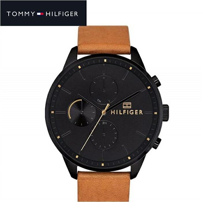 トミーヒルフィガー TOMMY HILFIGER 1791486 (195)時計 腕時計 メンズ ブラック ブラウン レザー
