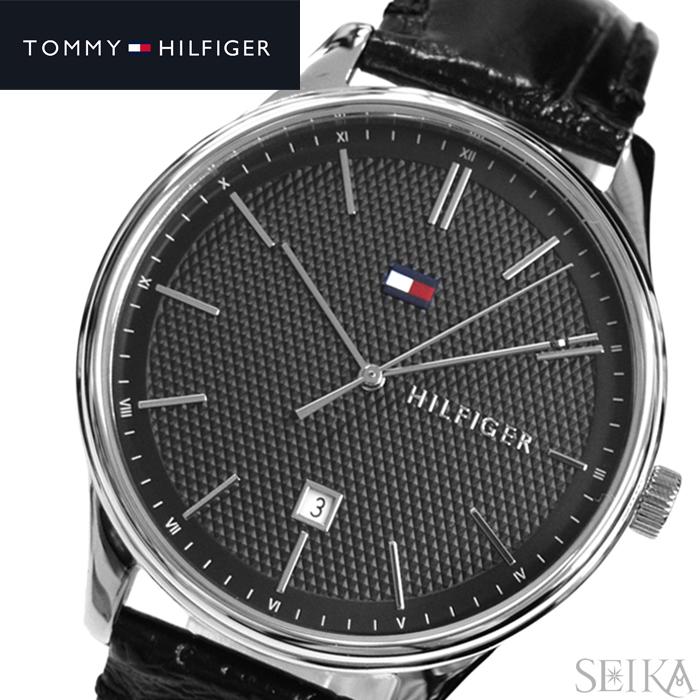 トミーヒルフィガー TOMMY HILFIGER 1791494 (204)時計 腕時計 メンズ ブラック レザー