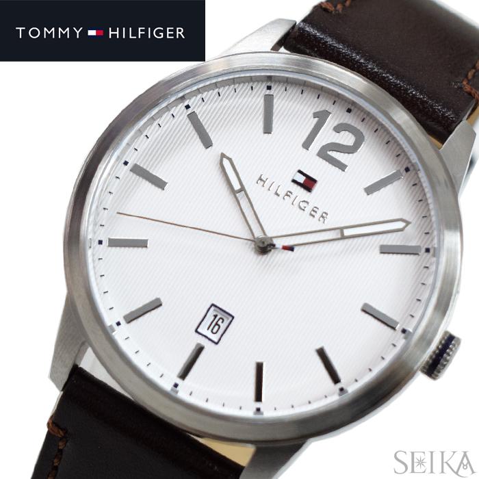 トミーヒルフィガー TOMMY HILFIGER 1791495 (206)時計 腕時計 メンズ ブラウン レザー
