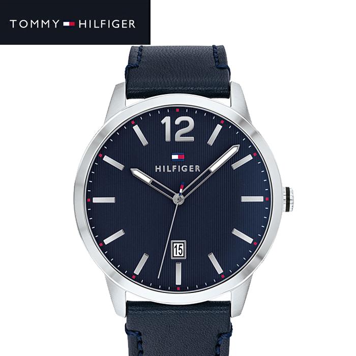 トミーヒルフィガー TOMMY HILFIGER 1791496 (207)時計 腕時計 メンズ ネイビー レザー