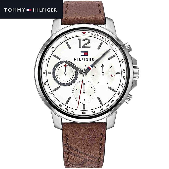 【レビューを書いて5年保証】【サマークリアランス】トミーヒルフィガー TOMMY HILFIGER 1791531(262)時計 腕時計 メンズ ブラウン レザー【0703】 ギフト