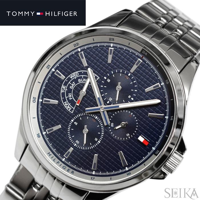 【レビューを書いて5年保証】トミーヒルフィガー TOMMYHILFIGER 1791612(324) 時計 腕時計 メンズ ネイビー シルバー ギフト