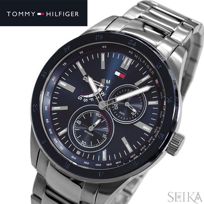 【レビューを書いて5年保証】トミーヒルフィガー TOMMYHILFIGER 1791640(327) 時計 腕時計 メンズ ネイビー シルバー ギフト