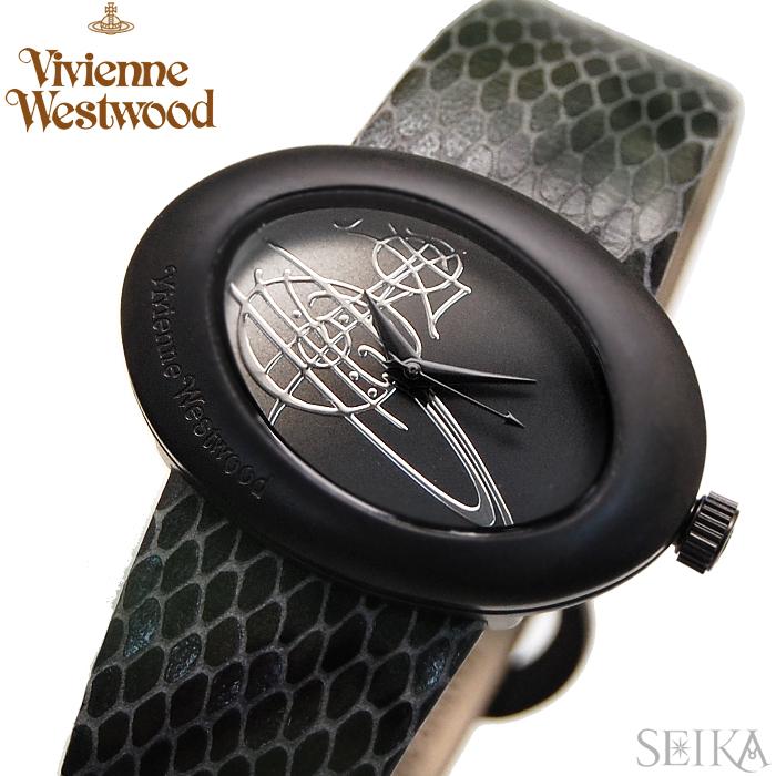 【商品入れ替えクリアランス】ヴィヴィアンウエストウッド Vivienne Westwood時計 腕時計 レディースレザー ブラック ヘビ VV014CHBK【ID】【G2】