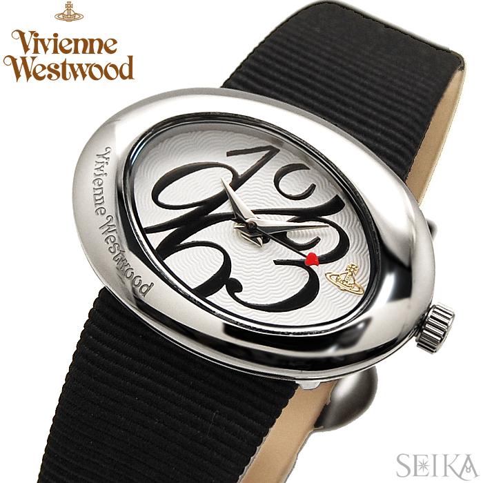 【商品入れ替えクリアランス】ヴィヴィアンウエストウッド Vivienne Westwood時計 腕時計 レディースホワイト ブラック VV014WHBK 白い腕時計