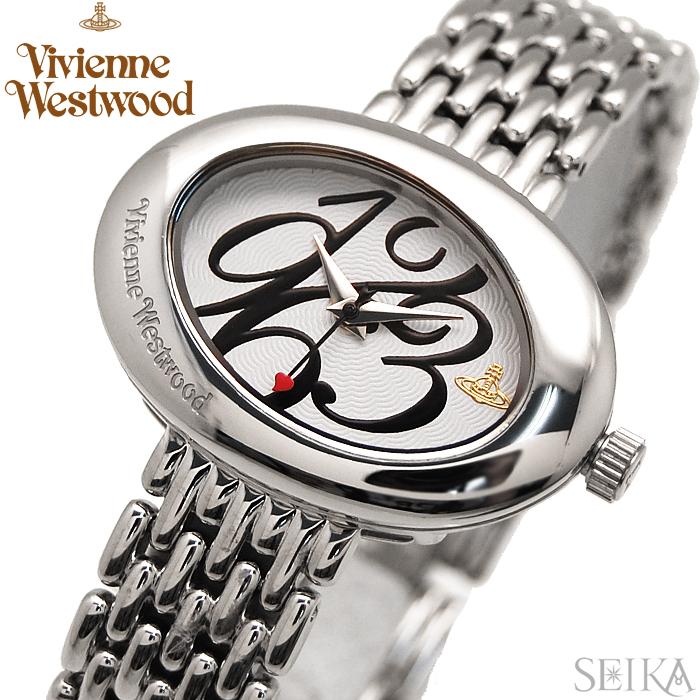 【レビューを書いて5年保証】【サマークリアランス】ヴィヴィアンウエストウッド Vivienne Westwood 時計 腕時計 レディースホワイト シルバー VV014WHSL 白い腕時計 ギフト