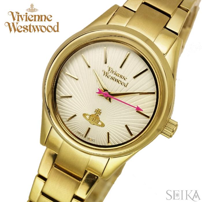 【商品入れ替えクリアランス】ヴィヴィアンウエストウッドVivienne Westwood時計 腕時計 レディースゴールド VV111GD【ID】【G2】