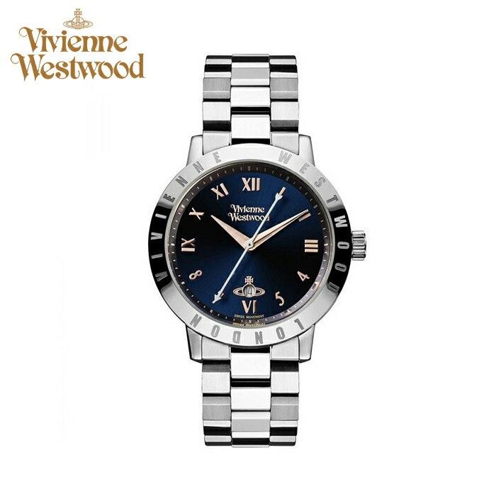 【レビューを書いて5年保証】ヴィヴィアンウエストウッドVivienne Westwood時計 腕時計 レディースネイビー シルバー VV152NVSL 青い腕時計 ギフト