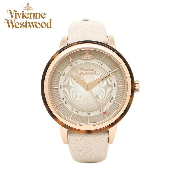 (お取り寄せ)(ショップ袋プレゼント)ヴィヴィアンウエストウッドVivienne Westwood時計 腕時計 レディースライトブラウン アイボリー レザー VV158RSBG(ty04)